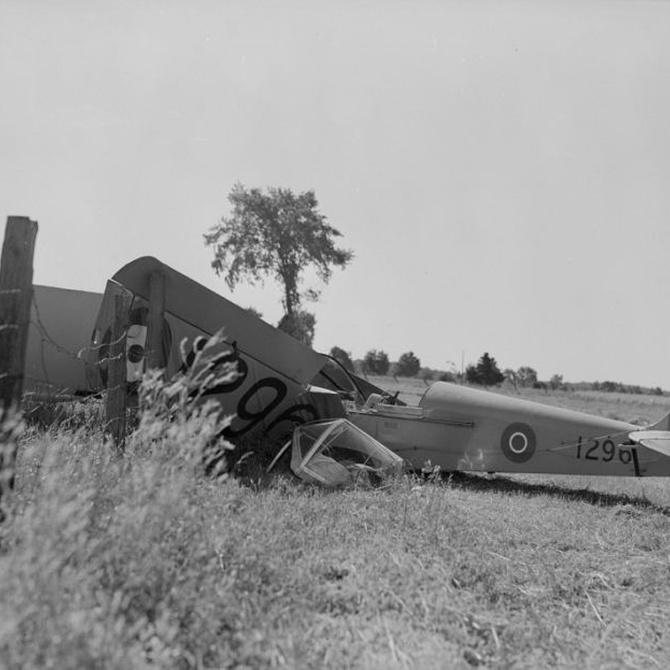 El avión abandonado en el Montseny