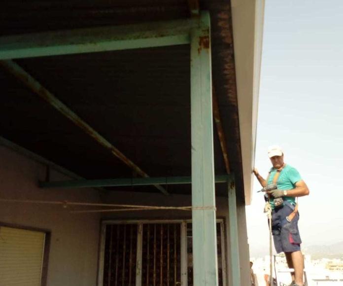 Canalones en fachadas Elche