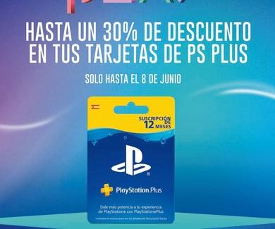 PROMOCIÓN DESCUENTO 30% CON TARJETAS PLAYSTATION PLUS
