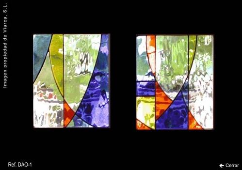 Vidrieras abstractas