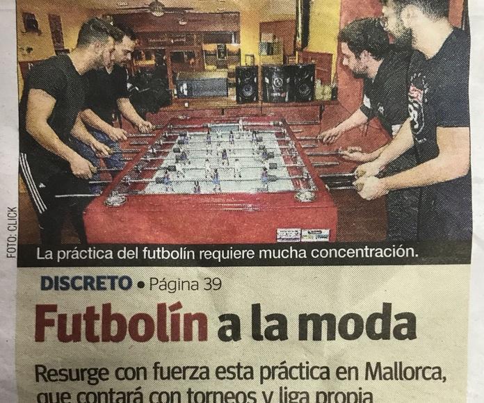 Reportaje futbolín catalán