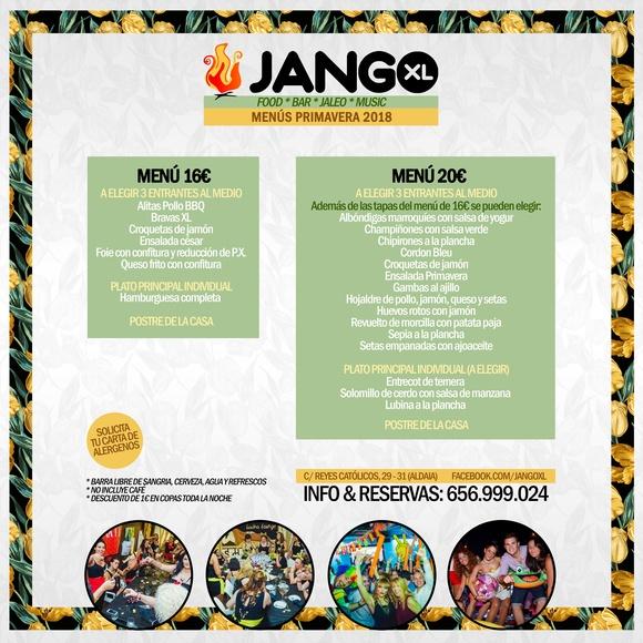 Menú primavera 2018 JANGO XL