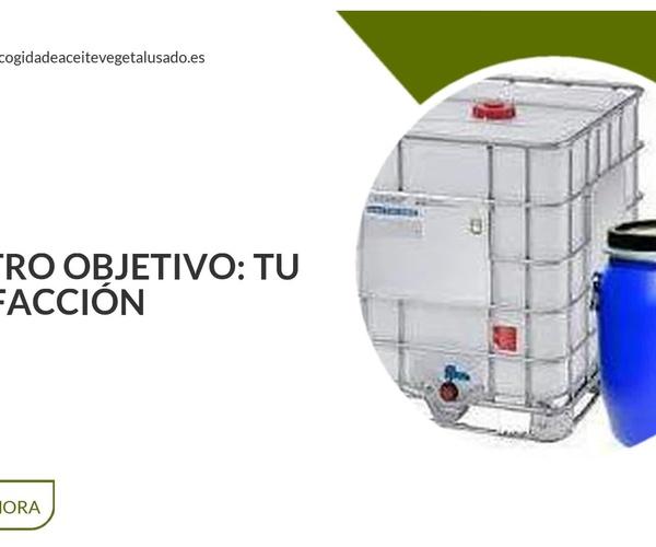 Recogida de aceite vegetal usado en Murcia | Reciclaceite
