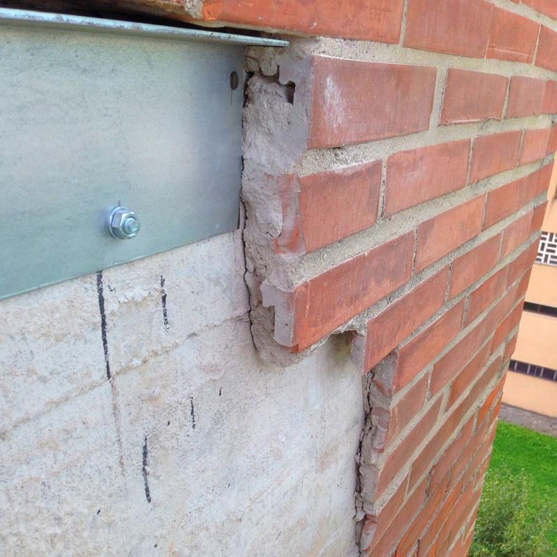 Refuerzo estructural de fachada