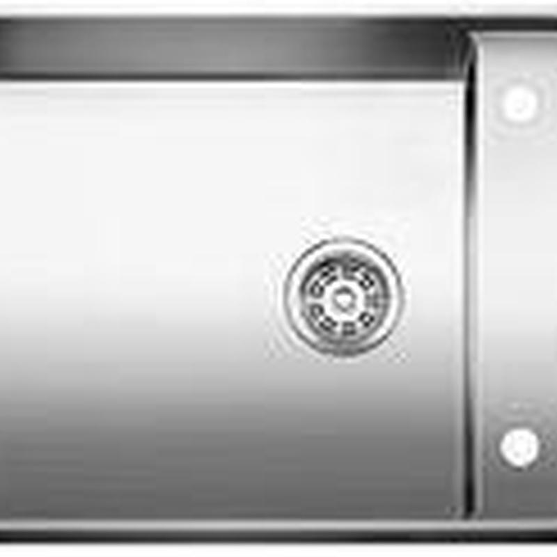 Fregadero Blanco de acero inoxidable modelo Blanco Attika 60/A