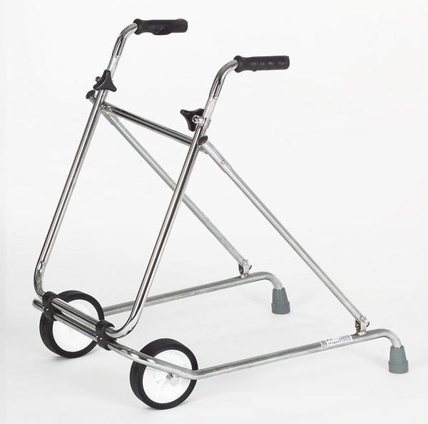 Caminador de acero con 2 ruedas plegable