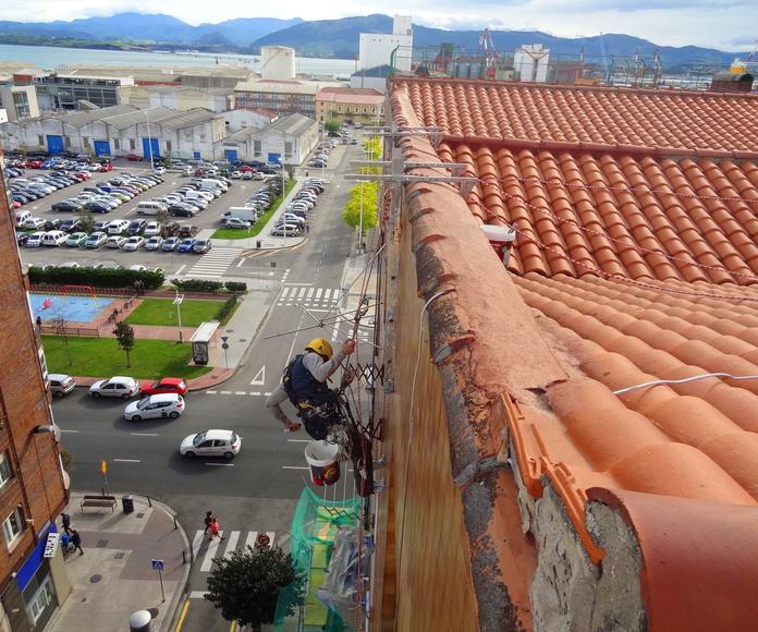 Reparación e impermeabilización de fachadas.