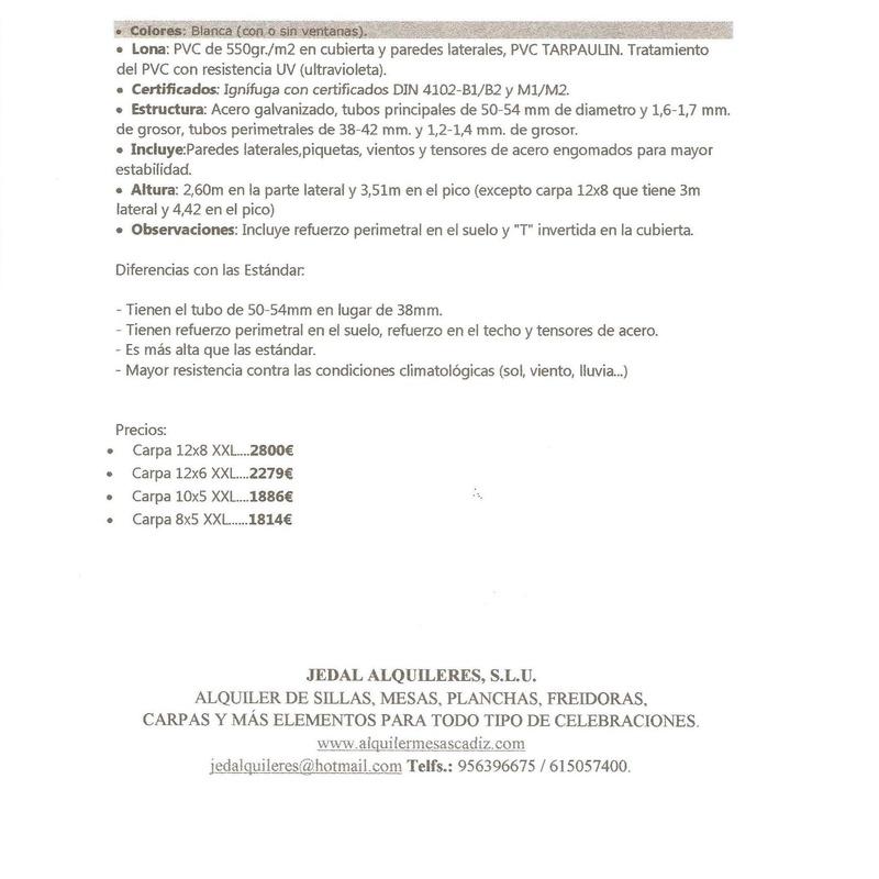 VENTA : Catálogo de Jedal Alquileres