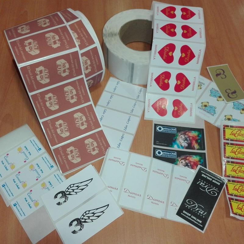 Etiquetas Adhesivas: Productos de Bolsagrafic