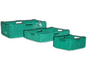 Cajas de plástico plegable