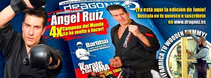 Angel Ruiz portada de la revista de artes marciales Dragonz