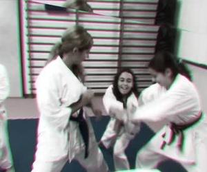 Ejercicios dinámicos clase Karate juvenil
