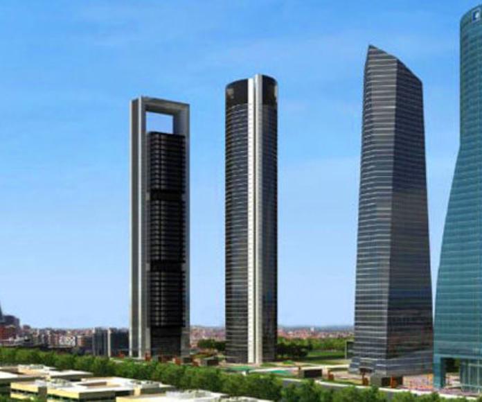 Las 4 torres del Paseo de la Castellana en Madrid