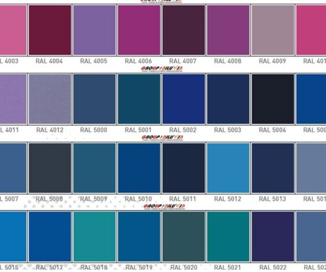La carta de colores RAL