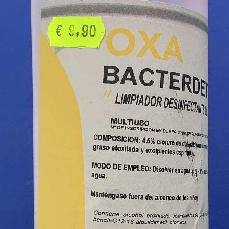 OXA bactericida plus 1L: SERVICIOS  Y PRODUCTOS de Neteges Louzado, S.L.
