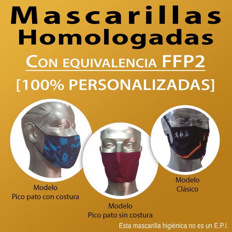 Mascarilla homologadas 100% Personalizadas