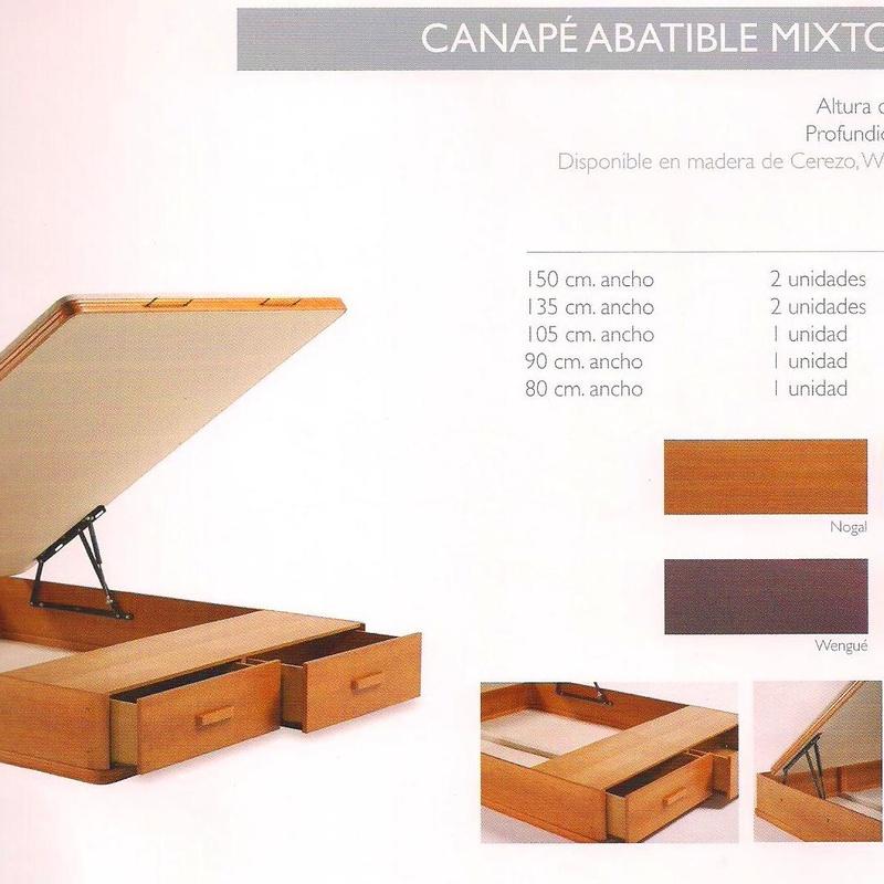 Canape Abatible Mixto Madera