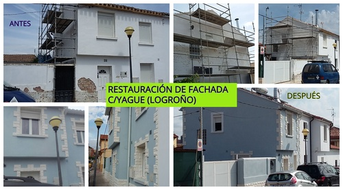 Restauración de fachadas Logroño