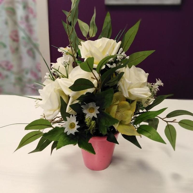 Centro artificial : Nuestras flores de Bouquet Flores y Plantas