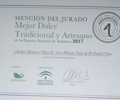 Premio Mejor Dulce Tradicional y Artesano