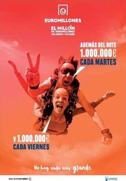 SORTEO DE 1.000.000€ MARTES Y VIERNES JUGANDO AL EUROMILLONES
