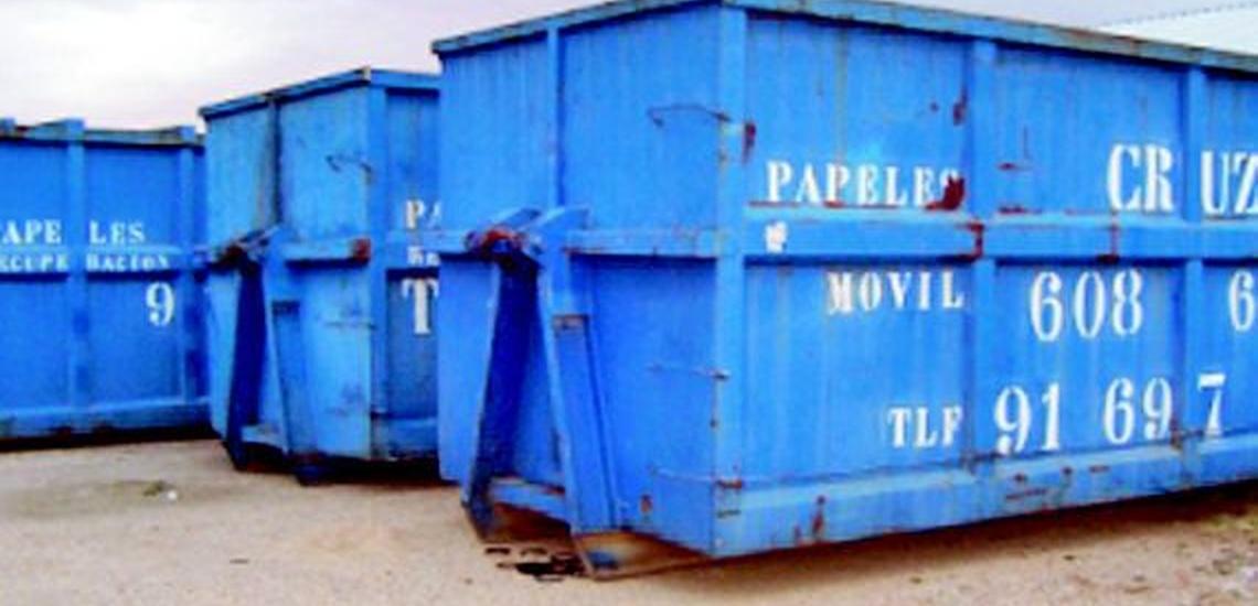 Destrucción de documentos en Madrid Centro y contenedores de reciclaje