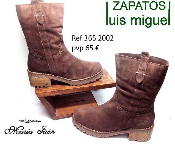 botin motero en serraje Maria Jaen: Catalogo de productos de Zapatos Luis Miguel