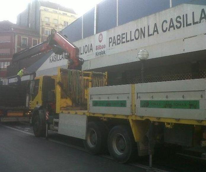 Camión grúa: Servicios de Transportes y Grúas Lomax