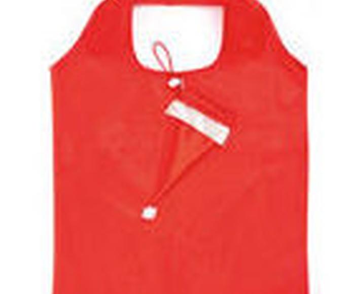 Bolsa plegable de divertido diseño navideño en llamativo color rojo