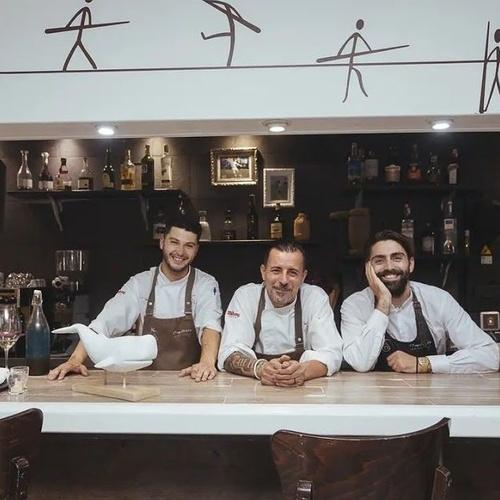Jonathan Cruz (Chef),Carmelo Florido(Proprietario y Chef),Nicola D'Ambrosio (Director de sala)