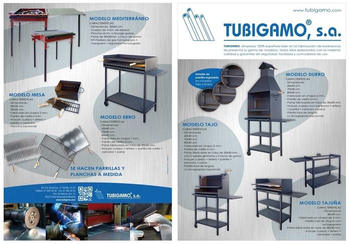Barbacoas : Catálogo de Tubigamo, S.A.