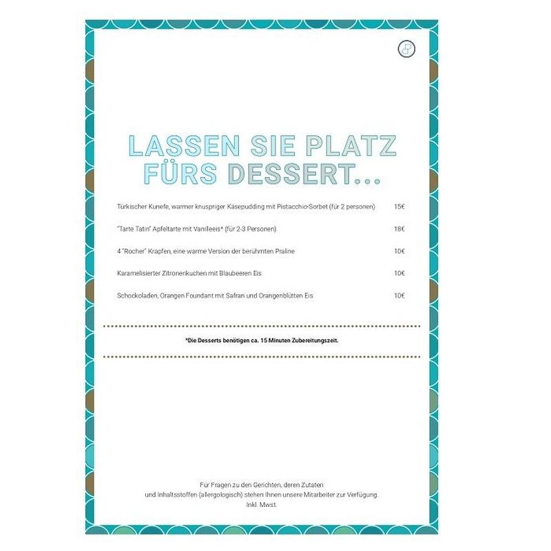 Carta en alemán: Menú de Baiben Restaurant