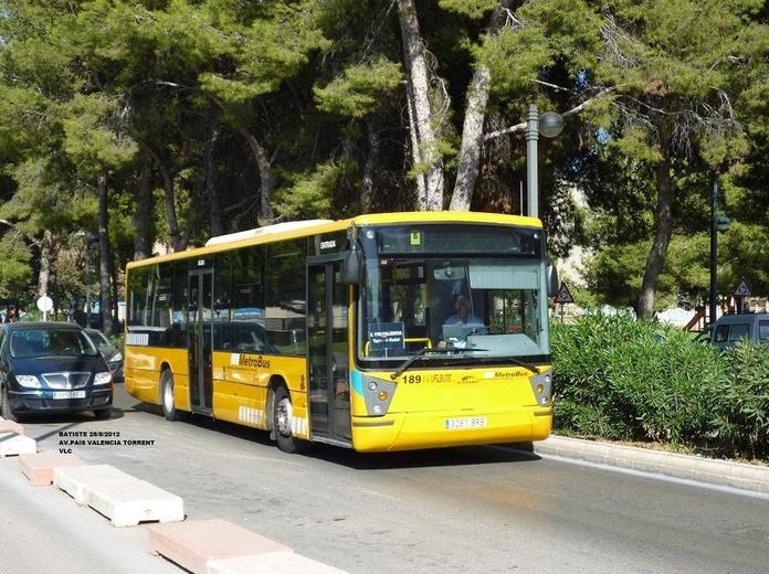 Linea 160: Valencia- C.C.Bonaire: Líneas de Fernánbus