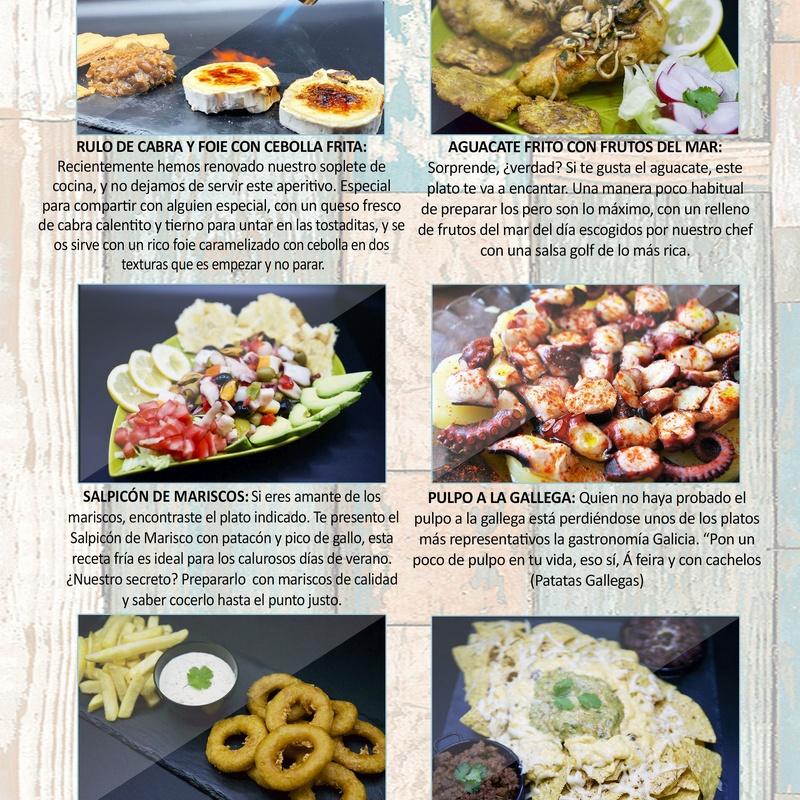 Entrantes: Carta de Restaurante Pal-buche