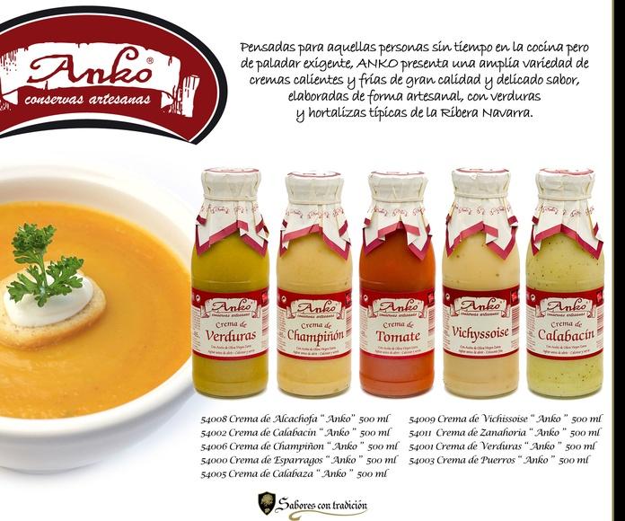 """Cremas de Verduras """" Anko """": Productos de Sabores con tradición"""