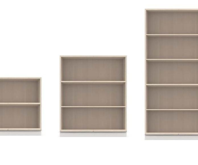 armarios oficina sin puertas, en 3 alturas diferentes