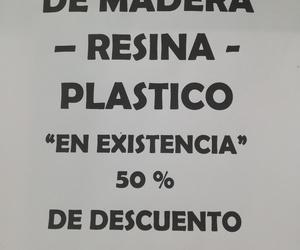 Marcos de Madera, resina y plastico.