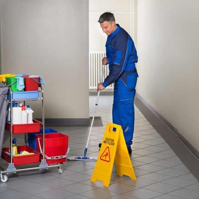 La limpieza de las áreas públicas de los hoteles