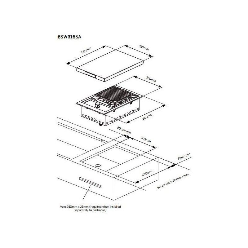 Hornillo encastrable Proline®: Productos y servicios de Mk Toldos