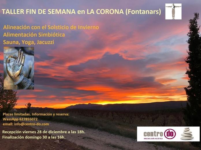 """Taller-Fin de semana en """"Caserío La Corona""""-Fontanars dels Alforins. 28, 29 y 30 de Diciembre 2018"""