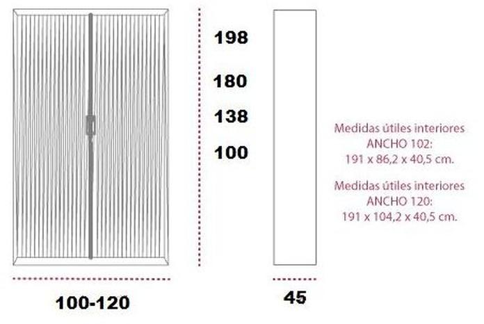 Armarios metalicos de persiana corredera y estantes graduables. Plecime: Catálogo de productos de Despatx