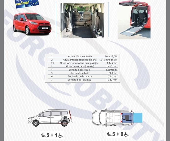 Rebaje de piso Ford grand tourneo Connect cajeado adaptación de vehículos Oviedo
