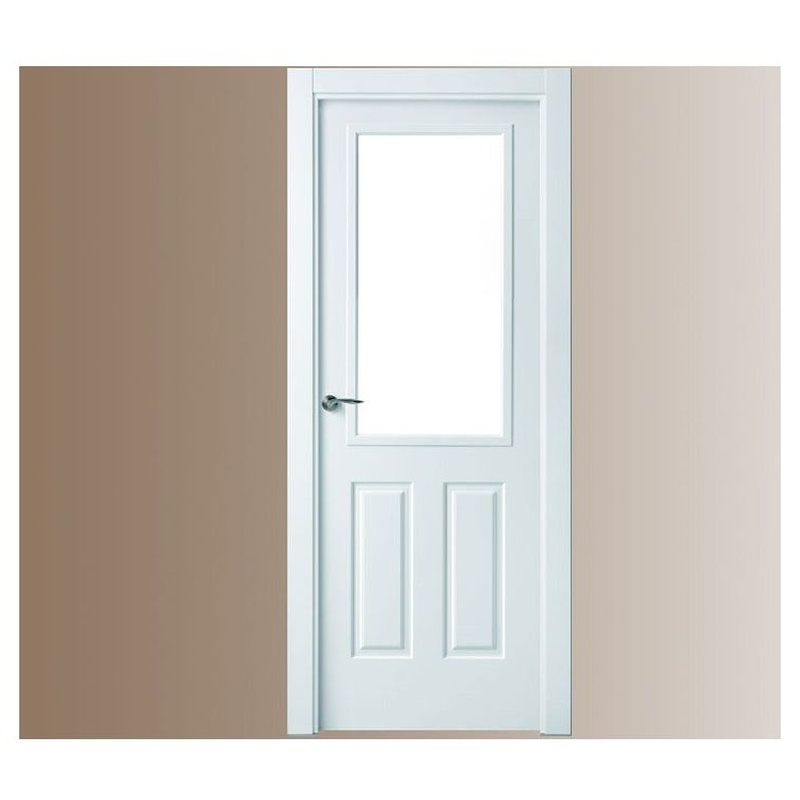 Puerta lacada cristalera