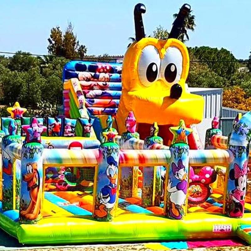 Castillo Hinchable tobogán Pluto : Catálogo de Hinchables Happy Jump