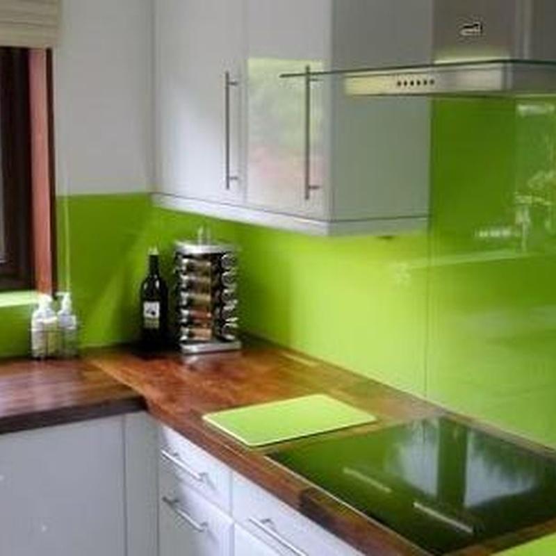 Forrado pared de cocina de cristal color