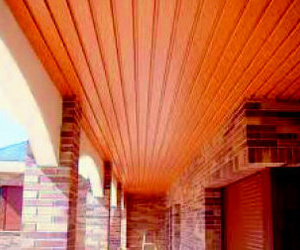 falso techo  de alumnio imitacion madera