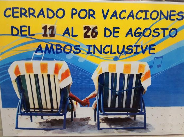 Vacaciones de VERANO......