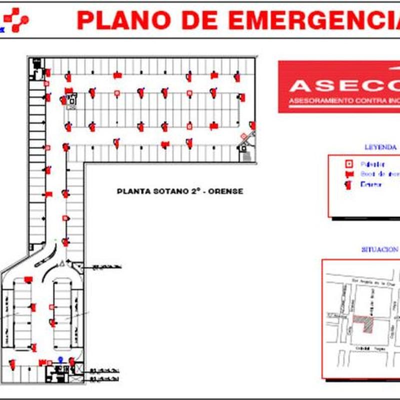 Planes de emergencia y autoprotección: Productos y Servicios de Asecoin