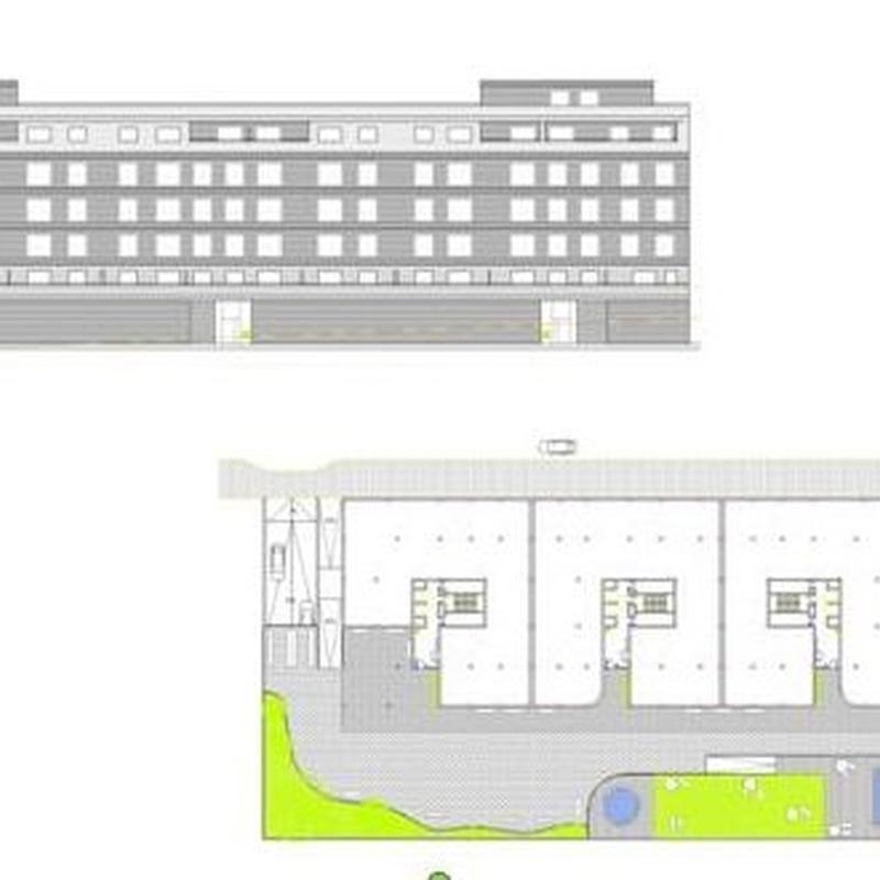 Proyecto básico  de 880 viviendas en El Paseo del Castañar, Guadalajara.  CERQUIA