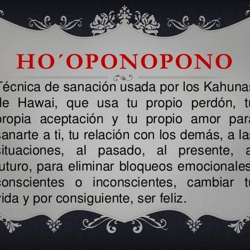 HO'OPONOPONO:  de Centro Om Zentroa